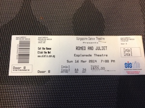 Ticket for Romeo and Juliet Ballet
